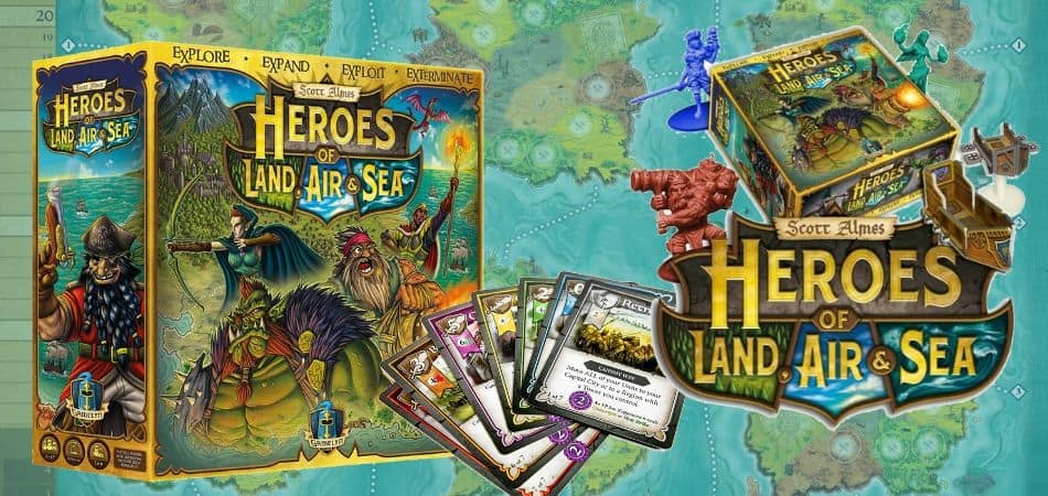 Heroes of Land, Air & Sea 4X Board Game