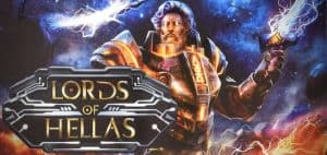 Lords of Hellas Board Game Logo and Art