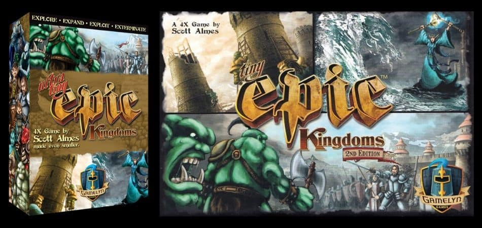 Tiny Epic Kingdoms and Ultra Tiny Epic Kingdoms 4X Board Games