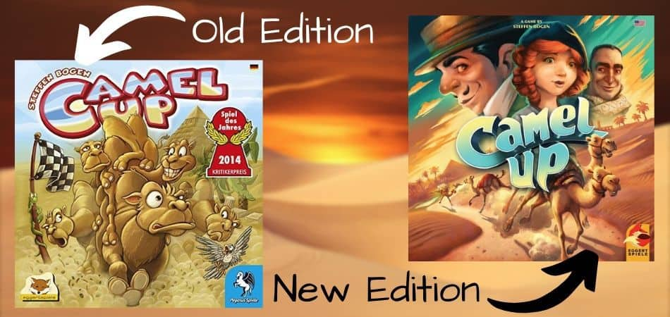 Camel Up Board Game Old & New Editions