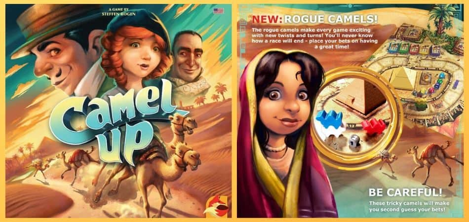 Camel Up Board Game Cover & Back