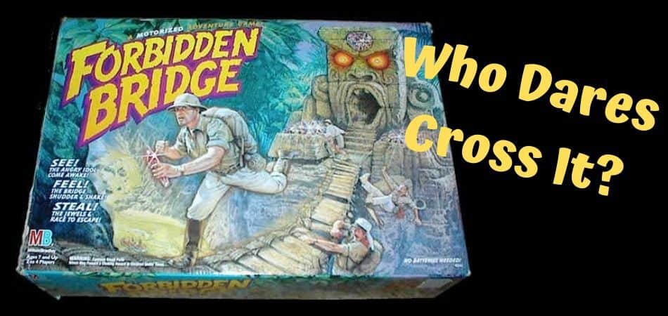 Forbidden Bridge 90s Board Game