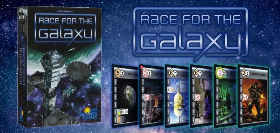 Race for the Galaxy Board Game Box and Cards