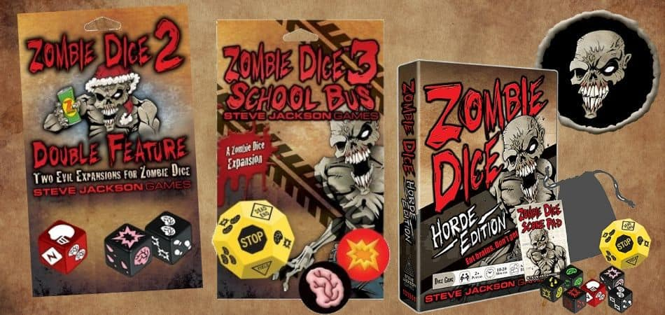 Zombie Die Board Game Expansions