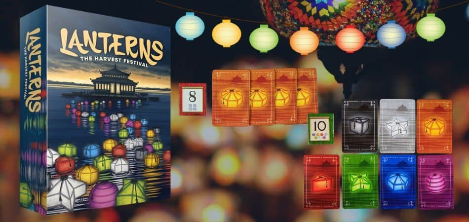 Lanterns Harvest Festival Board Game Box and Cards