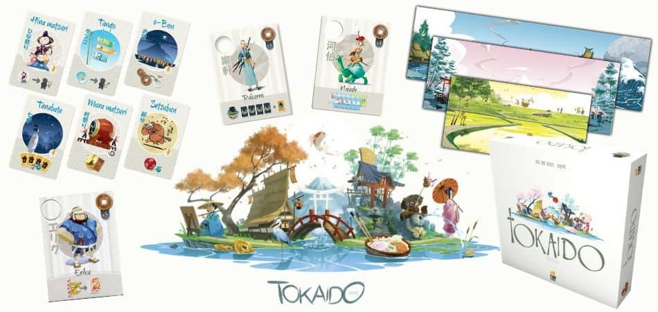 Tokaido Board Game Box and Cards