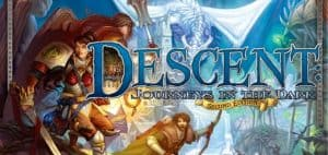 Descent: Journeys in the Dark Board Game Logo and Featured Art