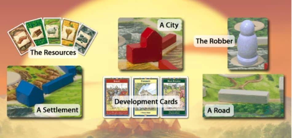 Catan Board Game Components