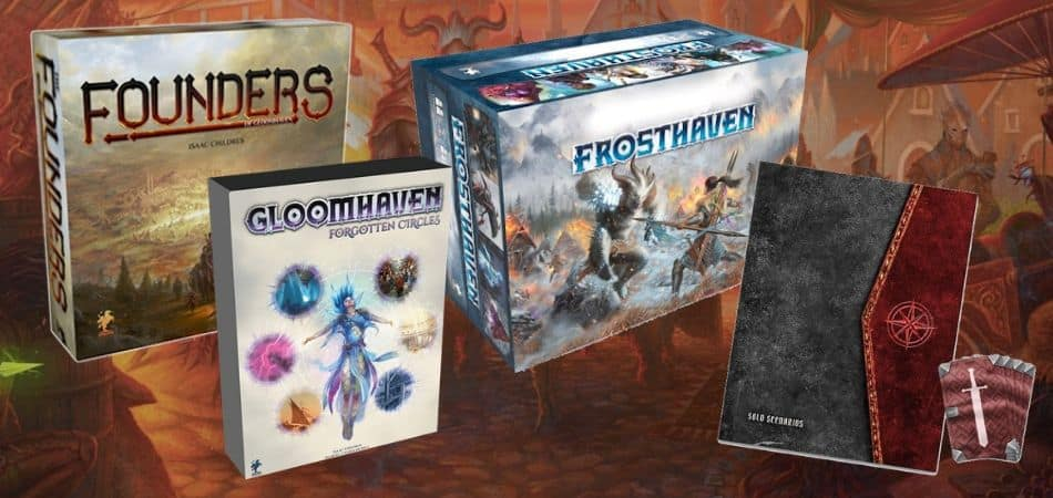 Gloomhaven Board Game Expansions - Founders, Forgotten Circles, Frosthaven, and Solo Scenarios