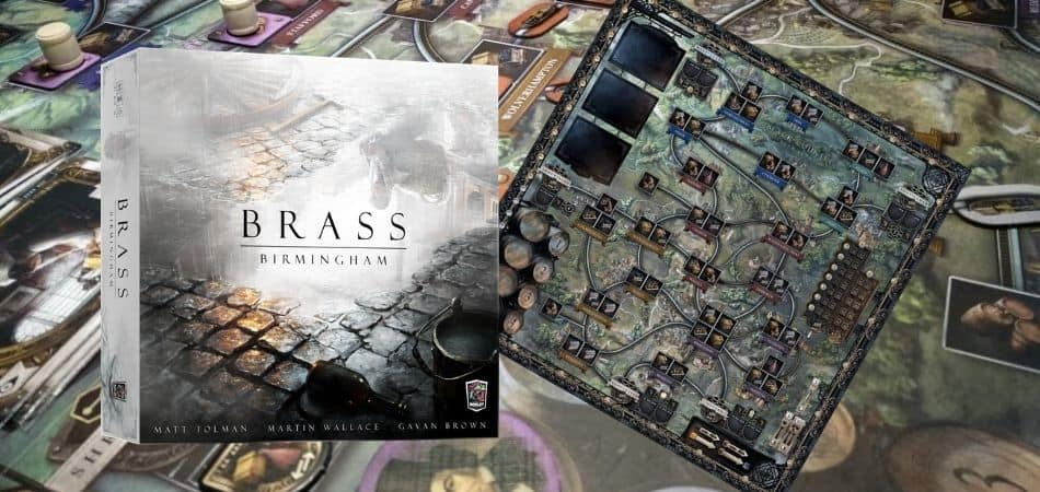 Brass Birmingham Board Game Box and Board