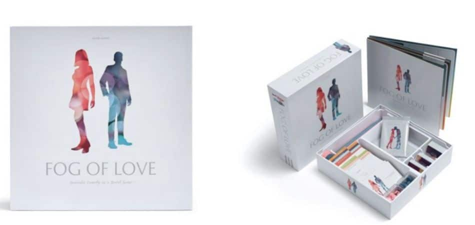 Fog of Love Board Game Box and Game Components