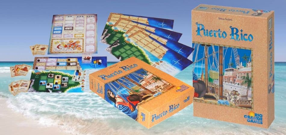 Puerto Rico Board Game Box and Components