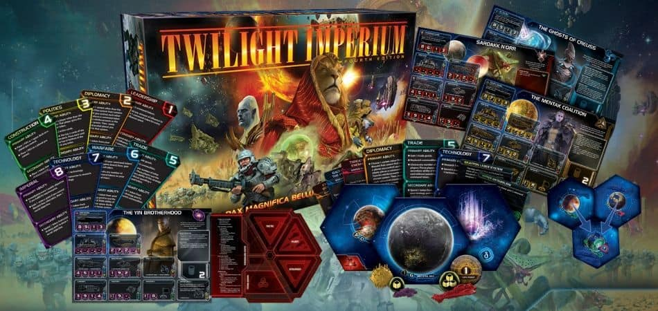 Twilight Imperium Board Game Box and Components