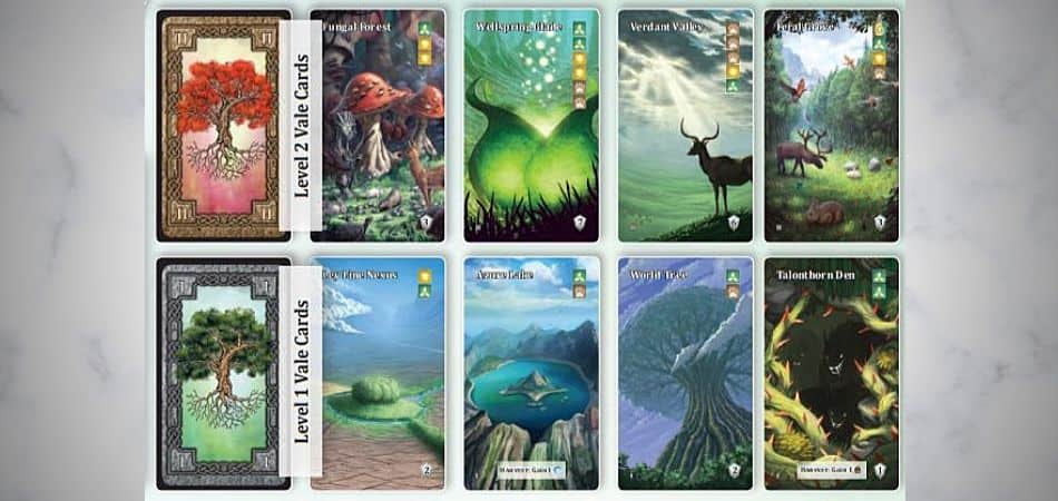 Mystic Vale Level 1 and 2 Vale Cards