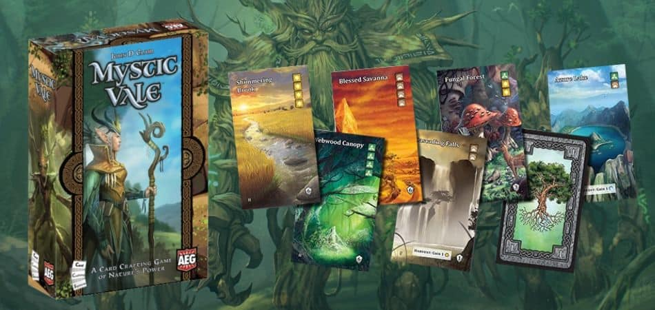 Mystic Vale Card Game Box and Cards