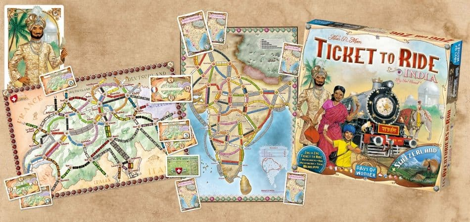 Ticket to Ride India and Switzerland