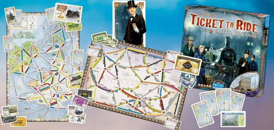 Ticket to Ride UK and Pennsylvania
