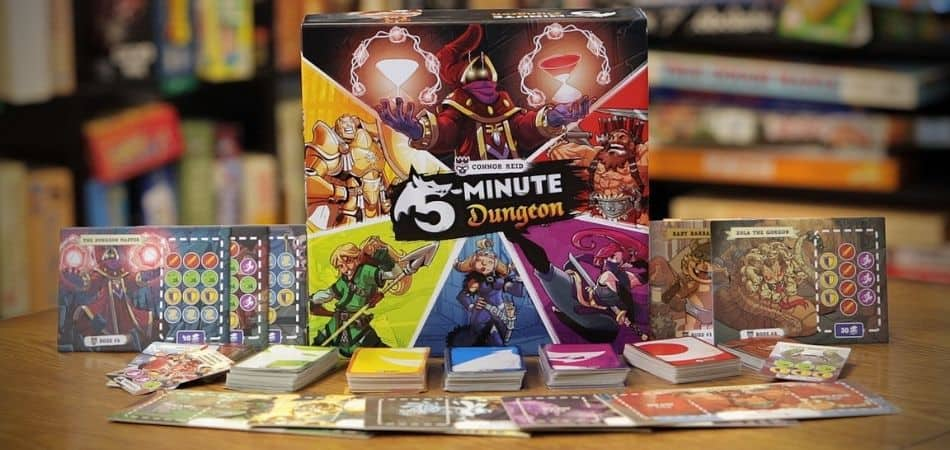 Unboxing 5-Minute Dungeon