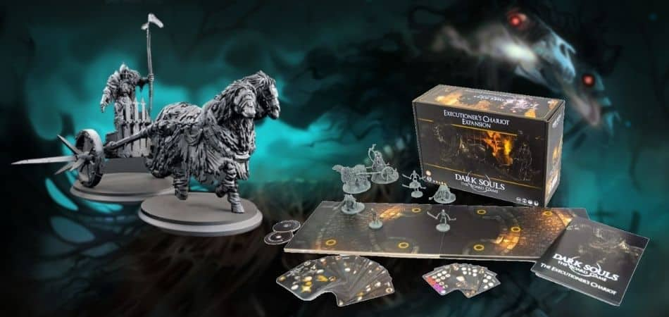 Dark Souls Executioner's Chariot Expansion Box and Miniatures