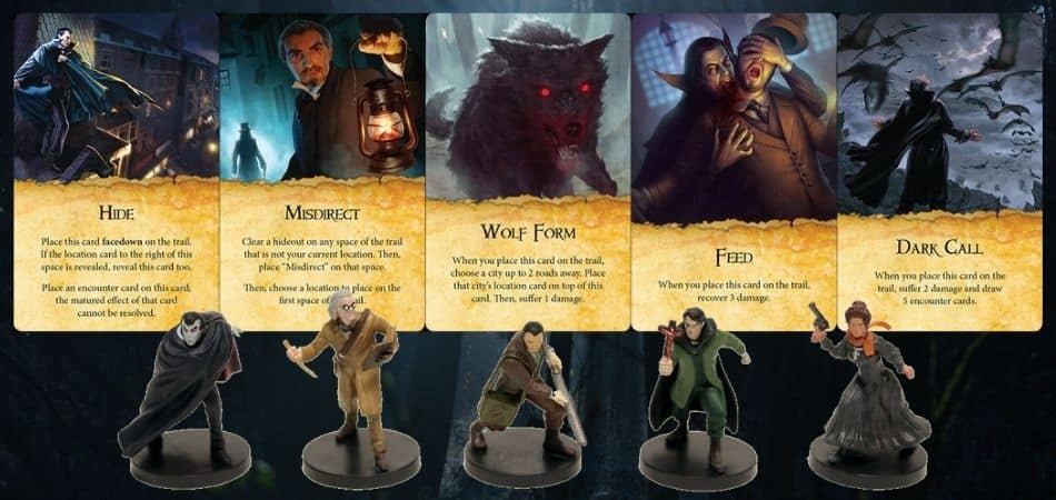 Fury of Dracula Cards and Miniatures