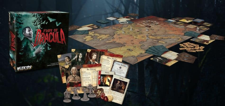 Fury of Dracula Board and Cards