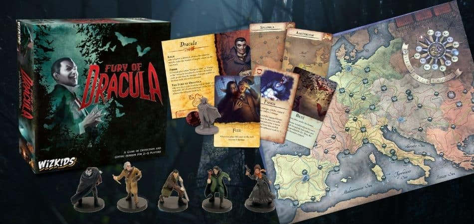 Fury of Dracula Board Game Components