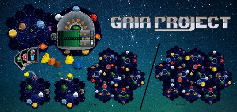 Gaia Project pieces and setup examples