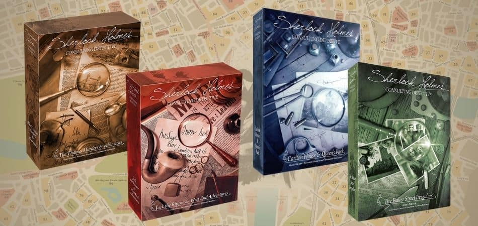 Sherlock Homes Consulting Detective Versions and Expansions