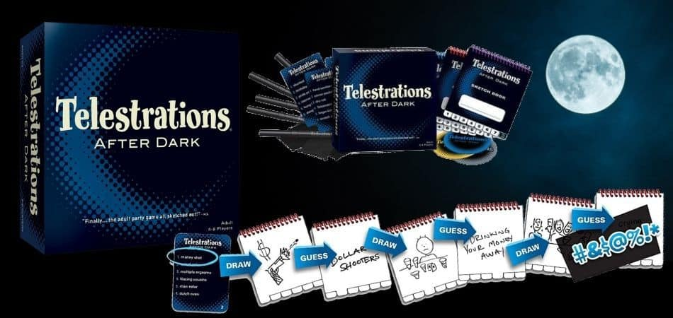 Telestrations: After Dark Box and Components