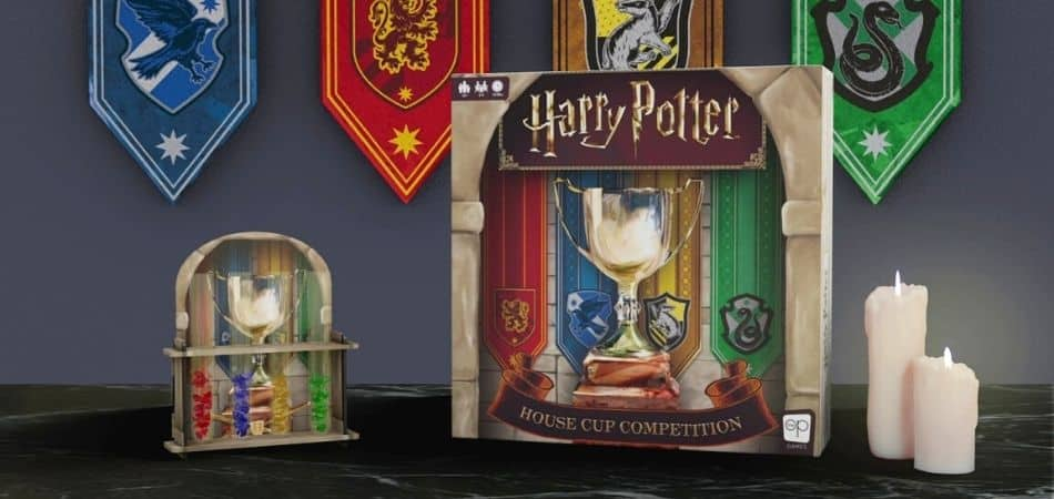 Harry Potter: House Cup Competition Board Game Box and Art