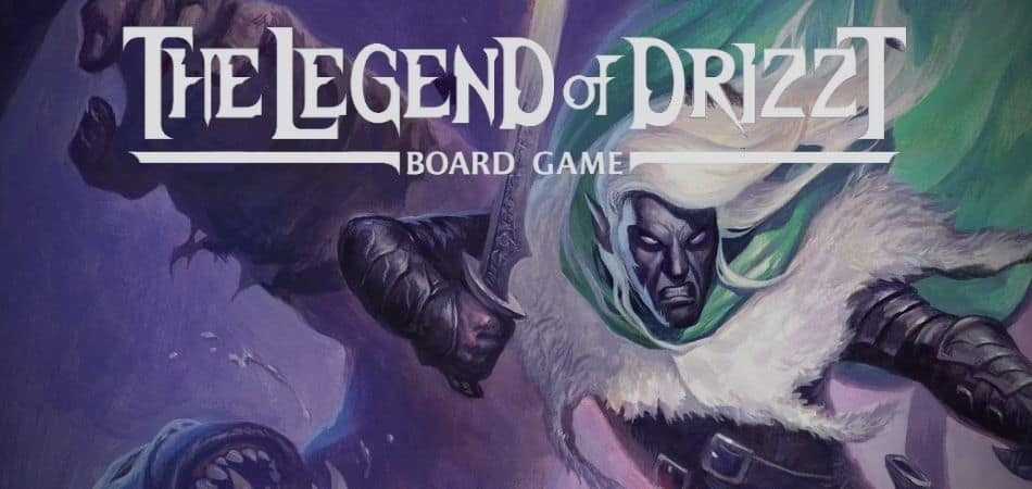 The Legend of Drizzt board game art featured