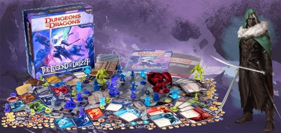 Legend of Drizzt board game components