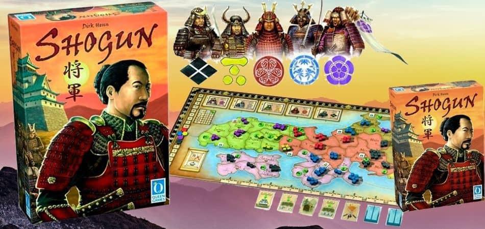 Shogun Board Game Box and Board