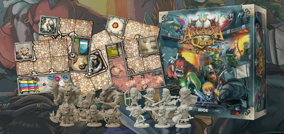 Arcadia Quest Box, Tiles, and Minis