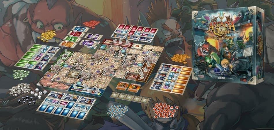 Arcadia Quest Board Game Board and Box
