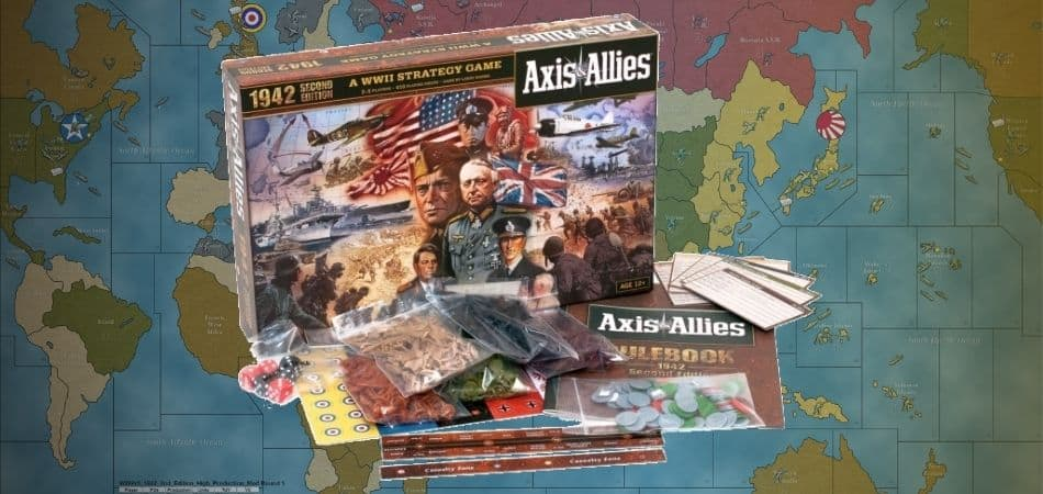 Axis & Allies: 1942 (Second Edition) Board Game Box and Map