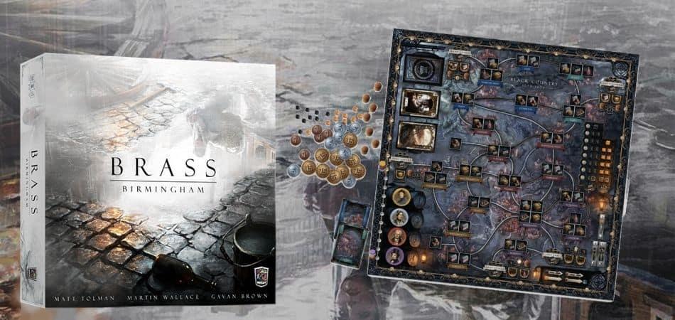 Brass Birmingham Board Game Box Board and Components