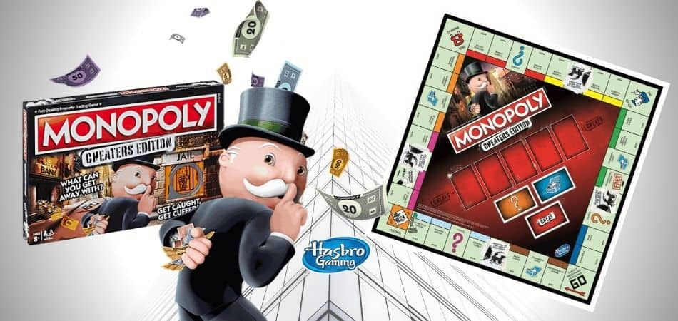 Monopoly: Cheaters Edition board game board and box