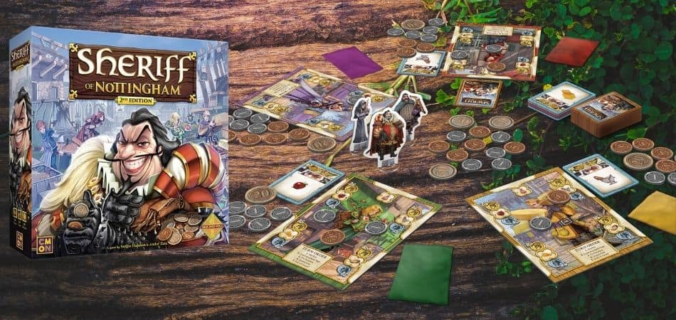 Sheriff of Nottingham Board Game Box and Setup