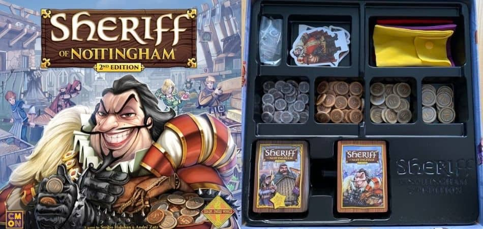 Sheriff of Nottingham 2nd Edition Box and Components