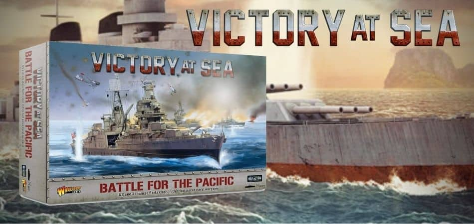 Victory at Sea: Battle for the Pacific board game box and art