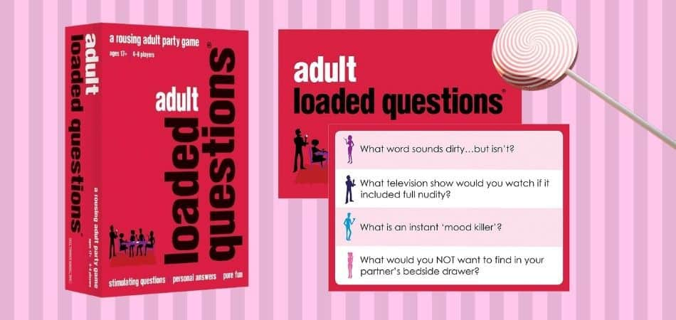 Adult Loaded Questions Board Game Box and Card Example