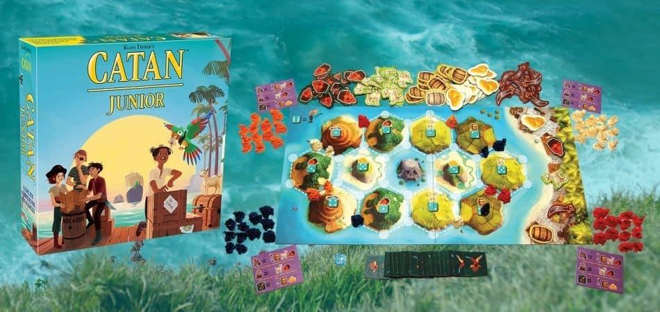 Catan Junior Board Game Box and Board