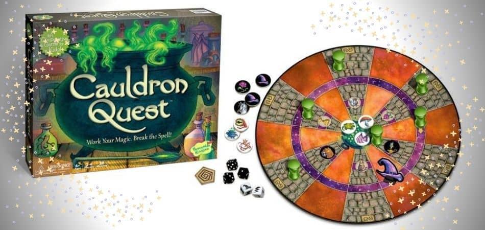Cauldron Quest Board Game Box and Board