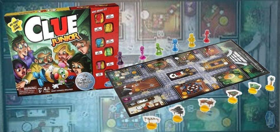 Clue Junior Board Game Box and Board