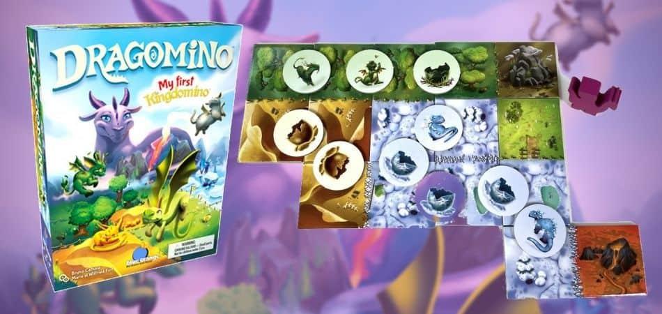 Dragomino: My First Kingdomino Board Game Box and Tiles