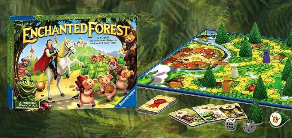 Enchanted Forest Board Game Box and Board