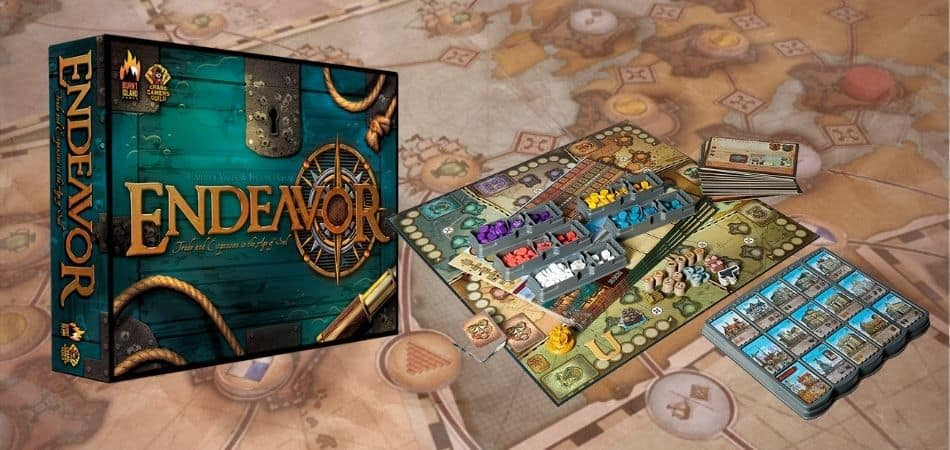 Endeavor: Age of Sail Board Game Box and Components