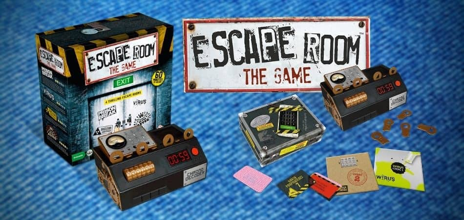 Escape Room The Game Box and Components