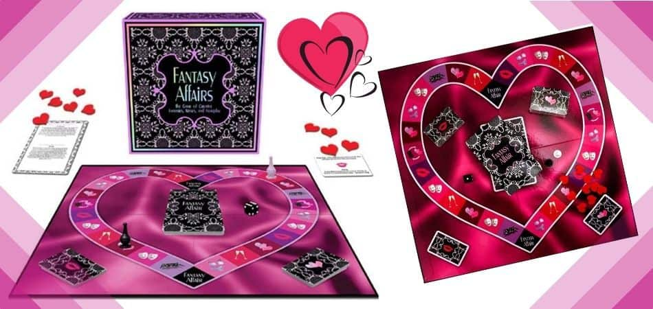 Fantasy Affairs Board Game Box and Board
